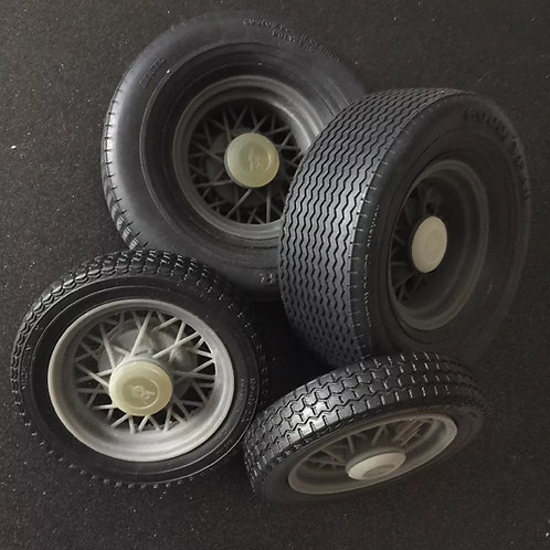 """1:8 wire wheels to fit the """"Deuce"""" soft rubber tires. Tires not Included"""