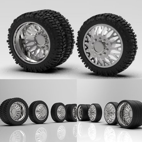 """1:64 """"Evo"""" Dually with Tires (22"""" or 26"""")"""