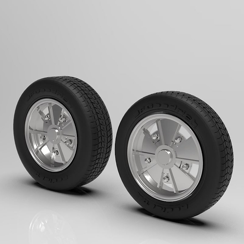 "1:16 ""BRM"" Wheels 4.5 X 5.5 Wheels And Tires Set"
