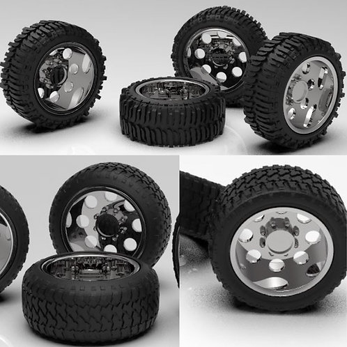 """1:64 """"Boss"""" Wheels with Tires"""