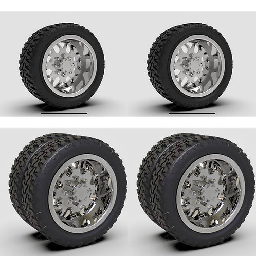 "1:25 26""Shred"" Dually Forged wheel with ""Bogger"" or ""Standard"" tire setup"