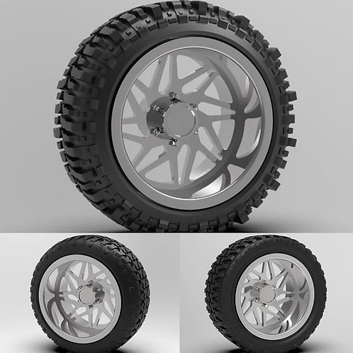 "1:64 26"" ""Origin"" Dually Forged wheels with a tire choice"