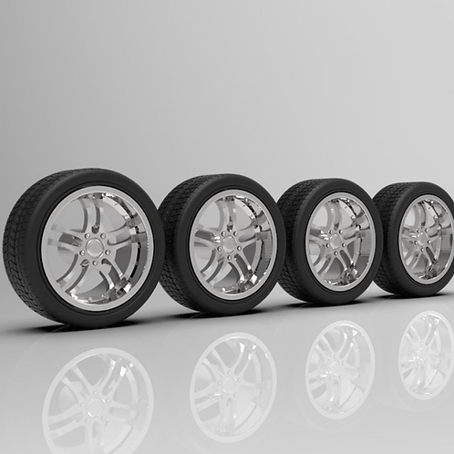 1:24 Falcon Wheels with Tires