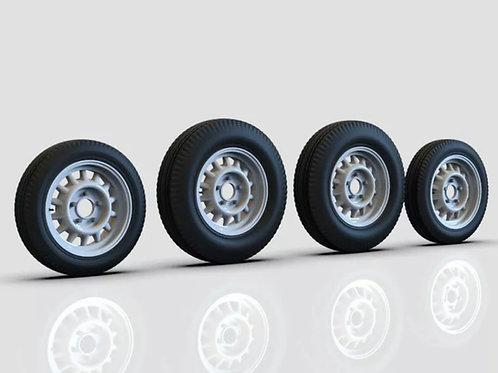 "1:8  17"" 3D Artillery Wheel and Tires"
