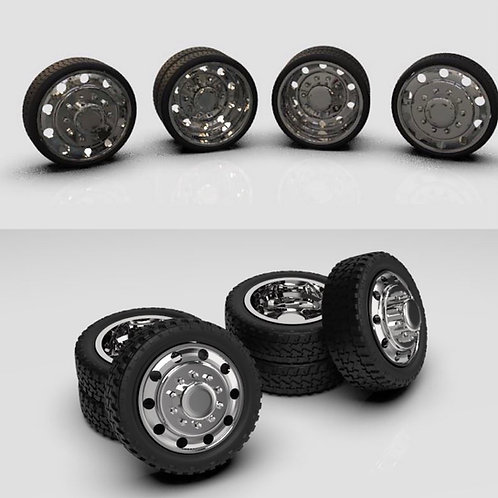 1:18 Dually Alcoa wheel and tire set.