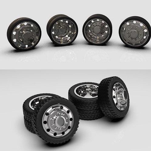 1:25 Dually Alcoa wheel and tire set.
