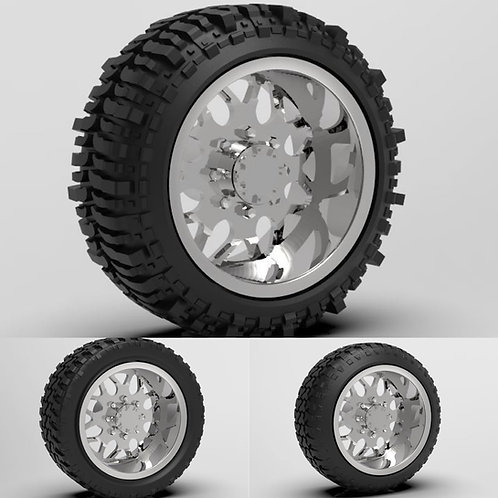 "1:25 ""Shred""Standard Forged wheel with ""Standard"" ""Stretched"" or ""Bogger"" Tires"