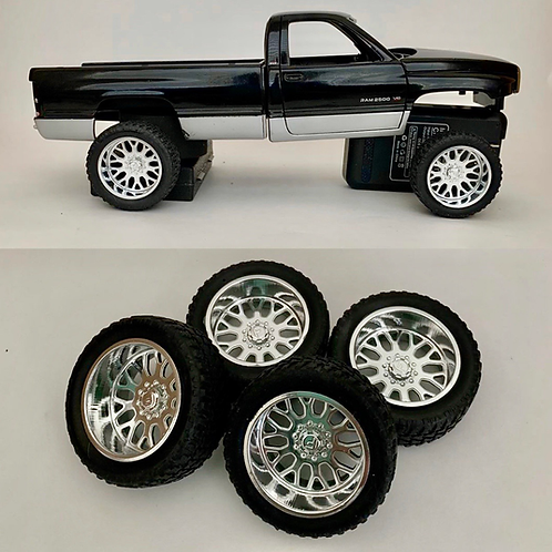 1:18 Fischure wheels and tires