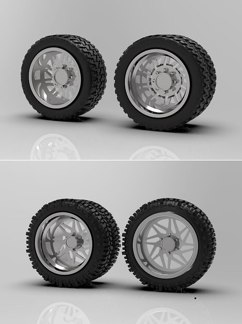 """1:64 26"""" """"Origin"""" Dually Forged wheels with a tire choice"""