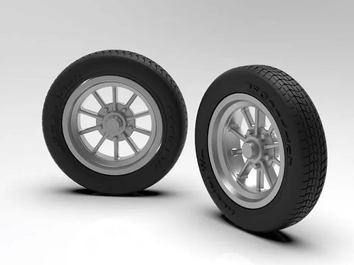 1:25 Ten Spoke Front Wheel And Tires (set of two)