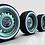 "Thumbnail: 1:25 24"" Smooth, Slot, Artillery wheel set with whitewalls tires"