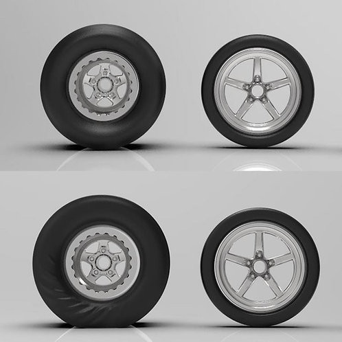 1:12 Weld Star dragsters with The Wrinkled Rears or Non-Wrinkle Rears