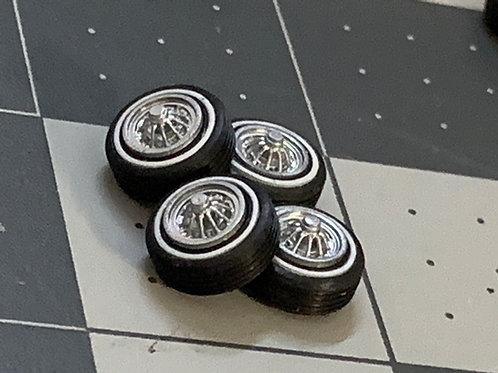 1:64 Crager Star Wire Wheels