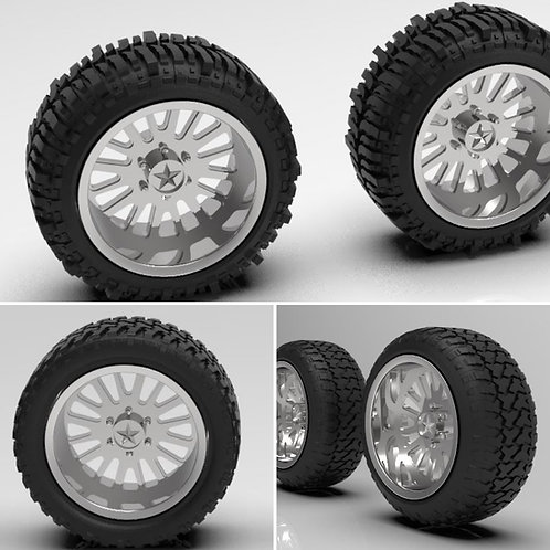"1:64 26 inch ""Hydro"" wheels Standard, Bogger and Streched tires"
