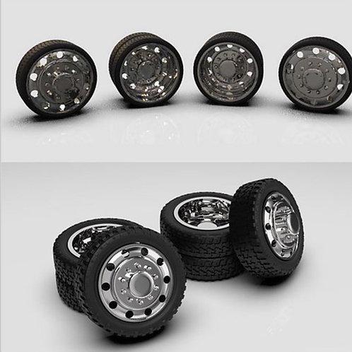 1:24 Alcoa ten lug Dually Wheel setup