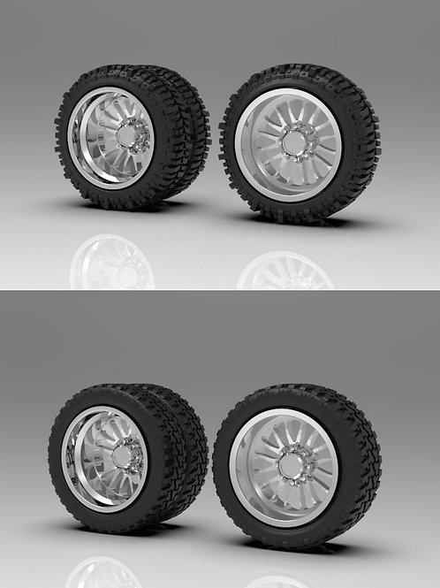 "1:64 ""Brute"" Forged Dually wheels with tires to choose from"