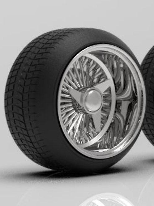 """1:25 Dayton 17"""" inch Reverse Stretched Tires"""