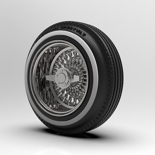 1:18 Deep Dish Twisted Wire wheel