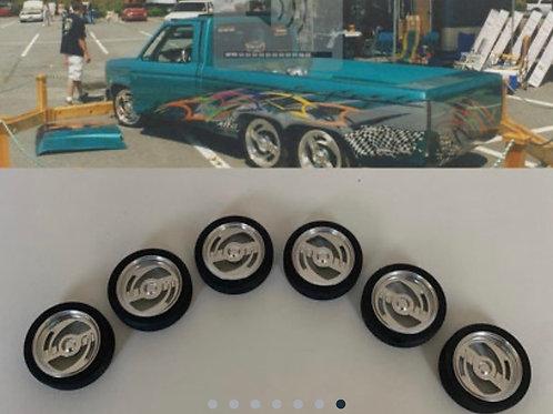 """1:64 """"Insanity"""" mini truck wheels"""