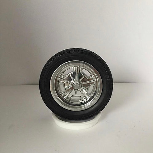 1:16 Hallibrand Spindle Mount Front only Wheel Setup with Tires