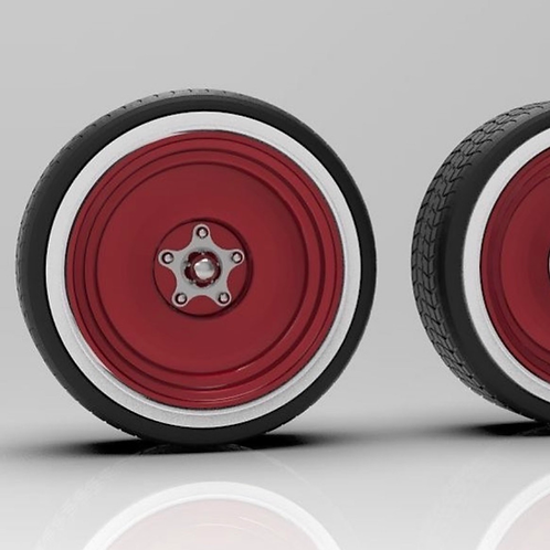 """1:25 24"""" Smoothies with Spider Caps with White wall Tires"""