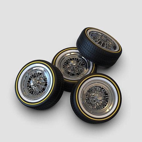 1:12 Radio Shack Crager Starwires on Vogue Rubber tires