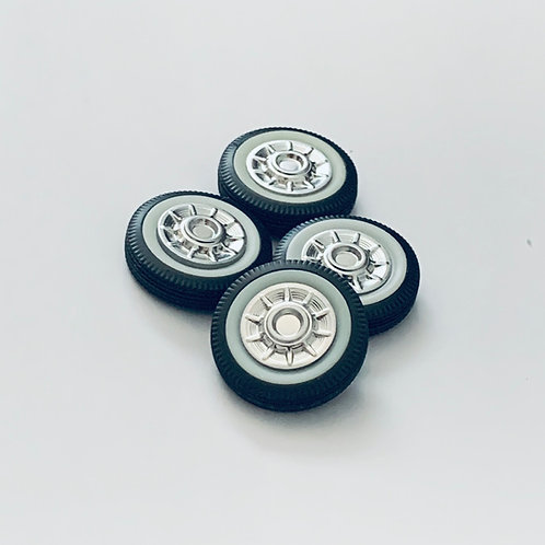 1:25 '57 Cadillac Wheels with Tires