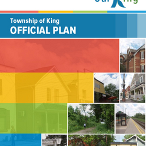 Official Plan for the Township of King Approved by Council