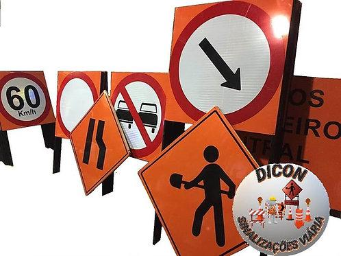Placas Obras -  para Rodovias