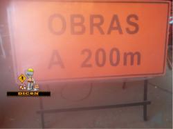 Placa c cavalete 2,00x1,00m