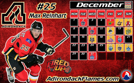 AHL ADK Flames Schedule Graphic