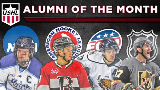 USHL Alumni of the Month Graphic