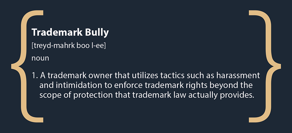 inforgraphic definition of trademark bully