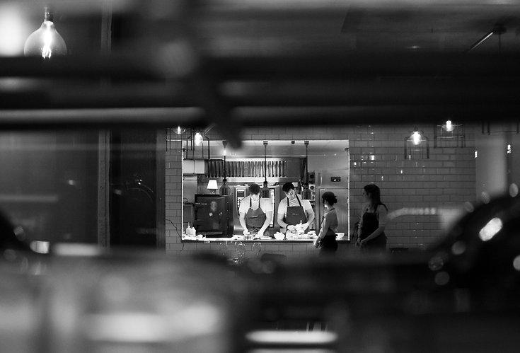 Interior restaurant kitchen, Farmyard, U