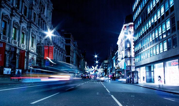 London night time, long expo