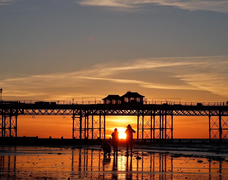 Cromer at sunset
