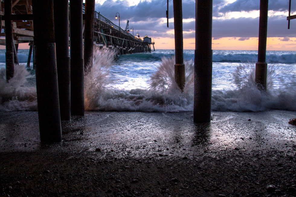 Pier at St Clements California USA