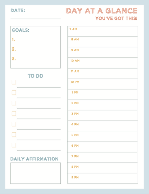 Day at a Glance - Day Planner