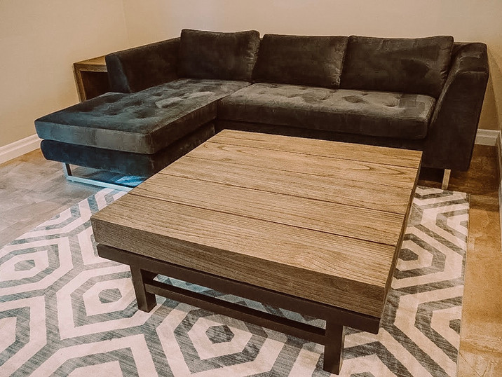 Couch and side table