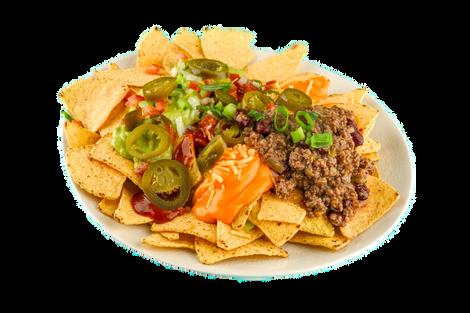 Nachos chili con carne