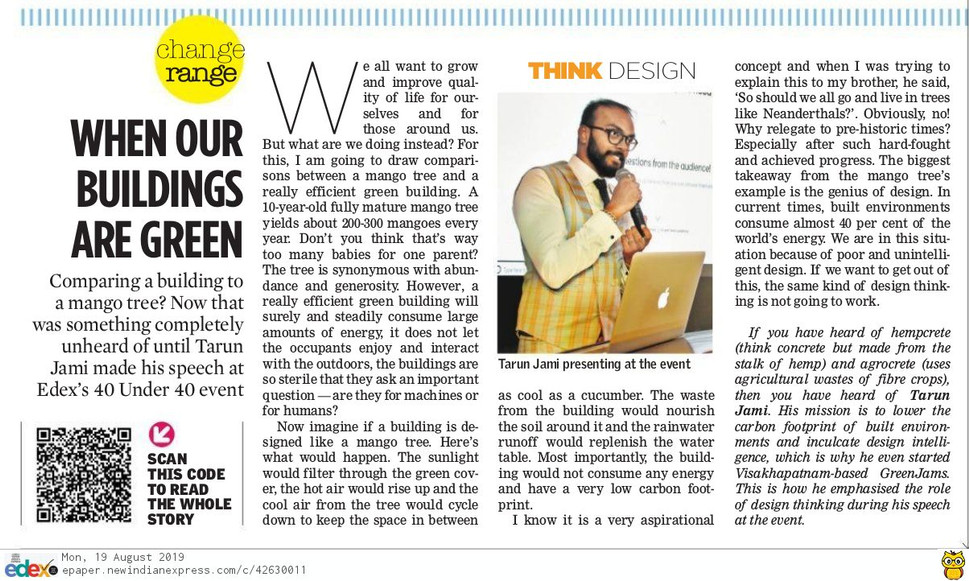 Coverage in EDEX, The New Indian Express