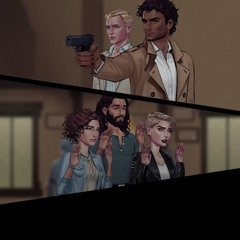 Illustrated using several pre-existing character assets