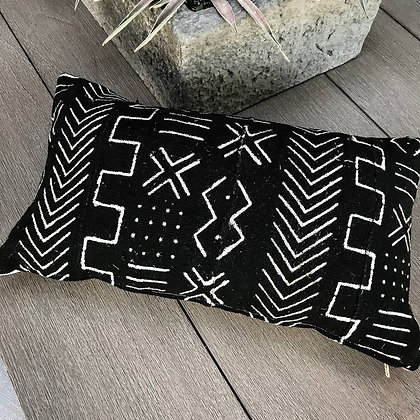 Authentic Mud Cloth Pillows - Black