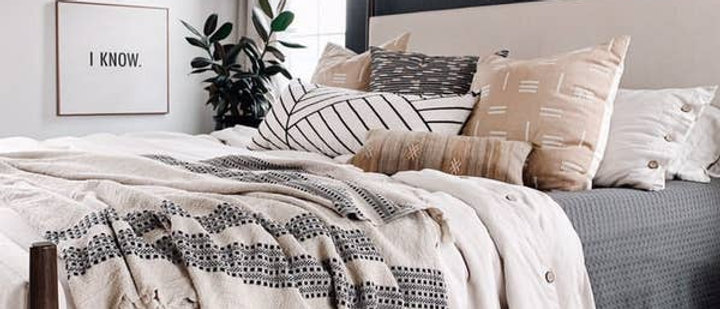 Farida Linen Cotton Throw Blanket