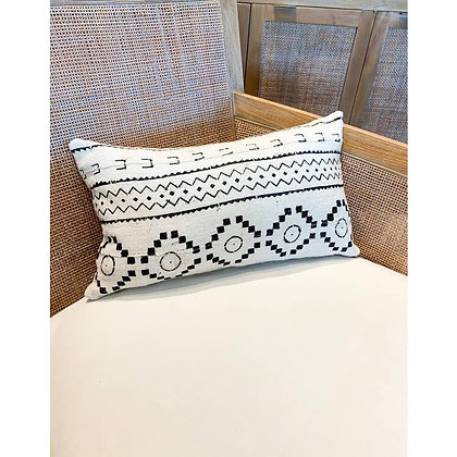 Authentic Mud Cloth Pillows - White