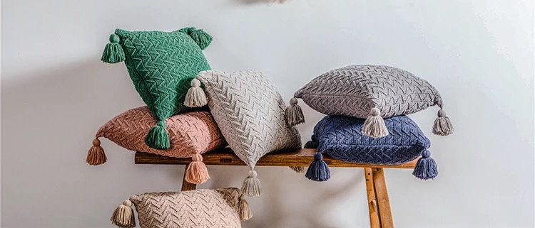 Soft Knitted Pillow Covers 45x45
