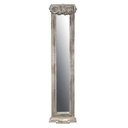 Hand Carved Wood VERSAILLES Column Wall Mirror