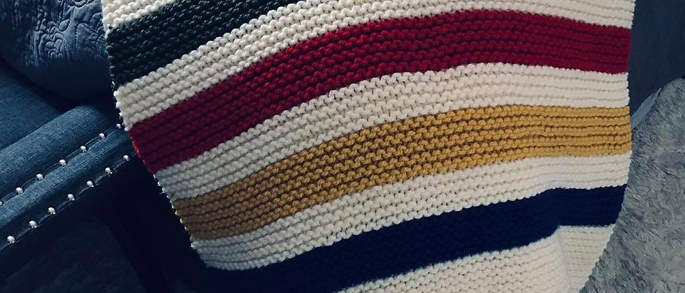 Knitted Hudson Bay Weight Blanket