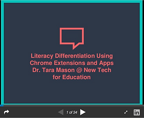 Literacy Differentiation Slides on Slideshare