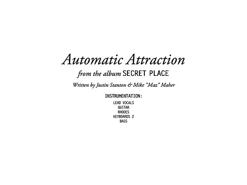 """""""Automatic Attraction"""" score and parts"""
